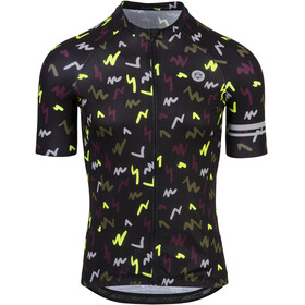 AGU Flash Fietsshirt korte mouwen Heren zwart/bont